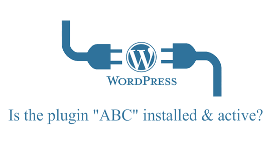 Check if WP plugin installed & active?