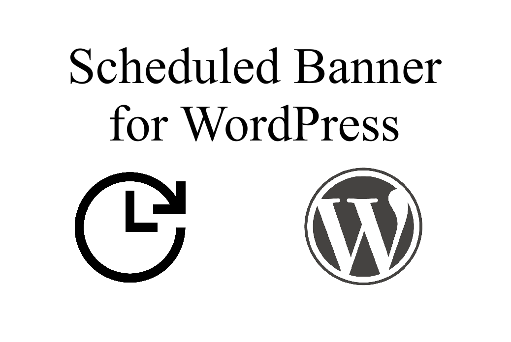 scheduled banner for wordpress